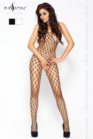 Combinaison filet Passion : Combinaison filet � larges mailles, avec ouverture intime � l'entre-jambes.